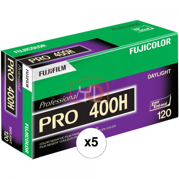 Fujifilm Fujicolor PRO 400H Professional Color Negative Film (120mm - Pack of 5)