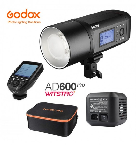 Godox AD600Pro Witstro All-In-One Outdoor Flash XPro-C Fro Canon + Godox AC Adapter for AD600Pro And Godox CB-09 Carry Bag Combo Set