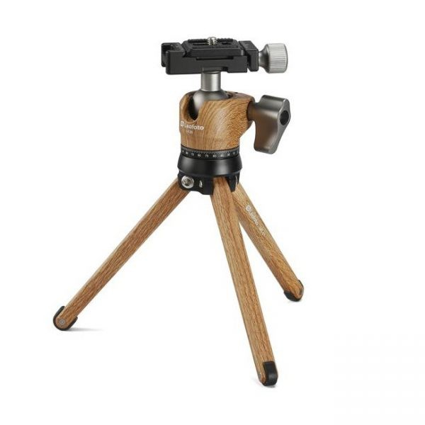 Leofoto MT-01 W/ LH-25 Mini Table Tripod Kit - Wood