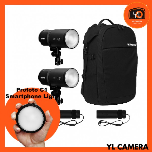(FlashDEAL) Profoto B10 Plus AirTTL Flash Head Duo Kit W/ C1 Smartphone Studio Light