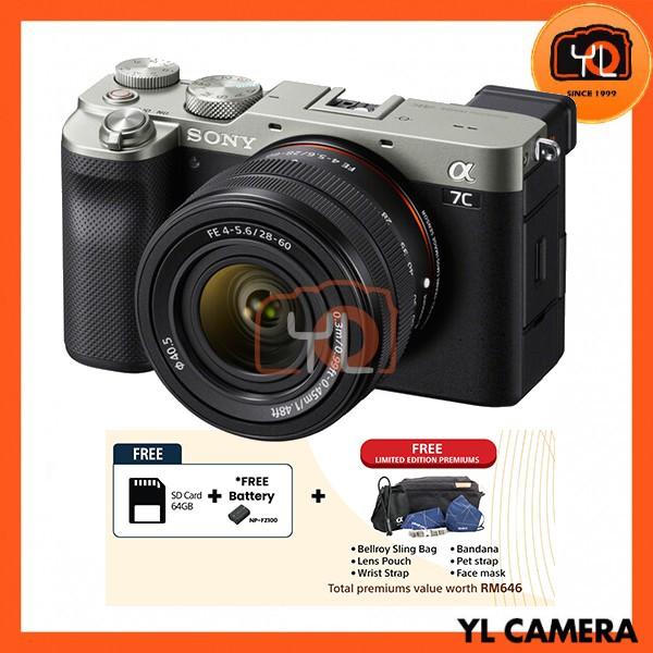 Sony A7C + FE 28-60mm F4-5.6 - Silver (Free 64GB SD Card)