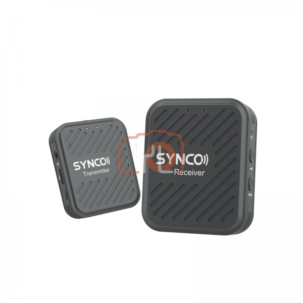 Synco Wair-G1-A1 Ultracompact Digital Wireless Microphone System for Mirrorless/DSLR Cameras (2.4 GHz) (Grey )