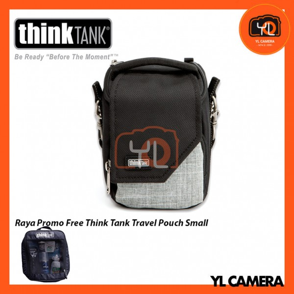 Think Tank Photo Mirrorless Mover 5 Camera Bag (Black/Heather Gray) Free Think Tank Photo Travel Pouch - Small