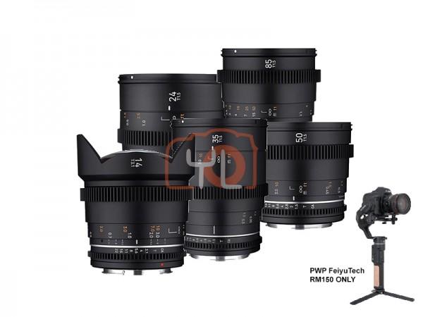 Samyang VDLSR MK2 Video Lens Set (14mm, 24mm, 35mm, 50mm, 85mm) - Sony E-Mount