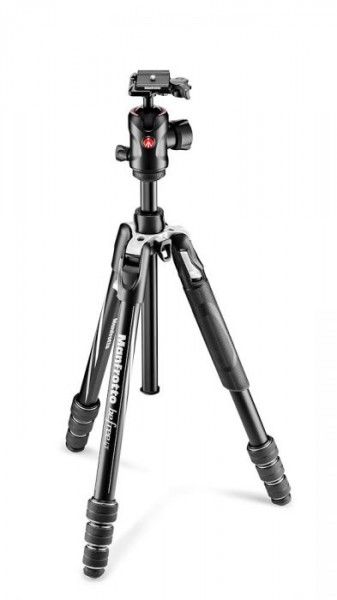 Manfrotto MKBFRTA4GT-BH Befree GT Travel Aluminum Tripod with 496 Ball Head (Black)