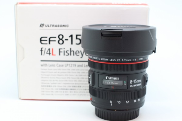[USED-PUDU] CANON 8-15MM F4 L EF FISHEYE ZOOM LENS 95%LIKE NEW CONDITION SN:8521000705