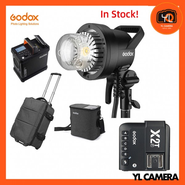 Godox AD1200Pro Battery Powered Flash System With Godox X2 2.4 GHz TTL Wireless Flash Trigger for Fujifilm Combo Set