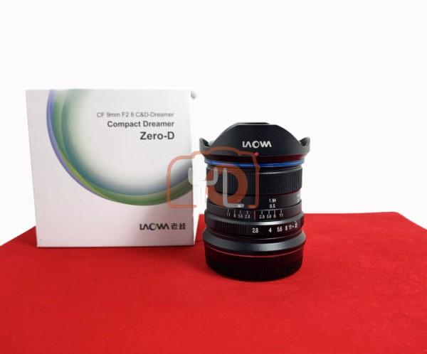 [USED-PJ33] Laowa 9MM F2.8 ZERO-D (Fujifilm), 95% Like New Condition (S/N:009026)