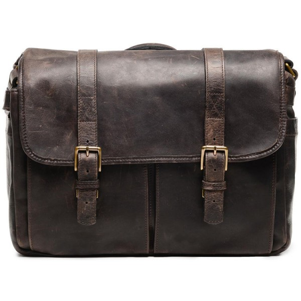 ONA Brixton Camera/Laptop Messenger Bag (Leather, Dark Truffle)