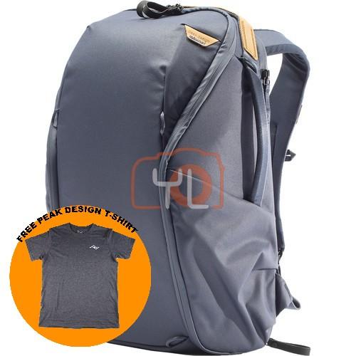 Peak Design Everyday Backpack Zip 20L_Midnight V2 (Free Peak Design T-Shirt)