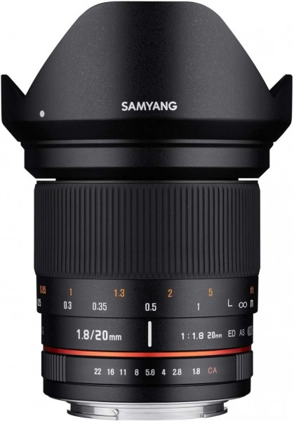 Samyang 20mm F1.8 ED AS UMC Lens for Sony Alpha