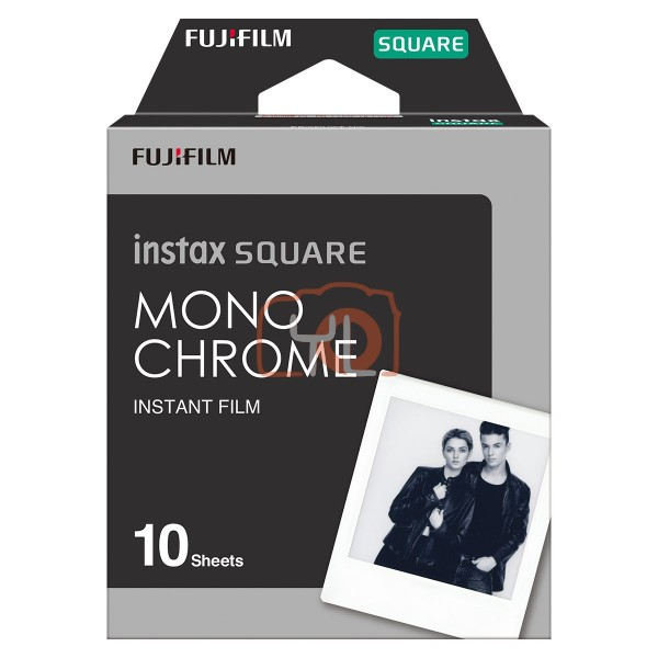 FUJIFILM INSTAX SQUARE Instant Film (Monochrome- 10 Exposures)