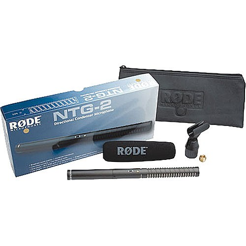 (PRE-ORDER) Rode NTG2 Battery or Phantom Powered Condenser Shotgun Microphone