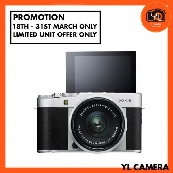 (Promotion) Fujifilm X-A5 + XC 15-45mm f/3.5-5.6 OIS PZ (Silver) [Free 32GB SD Card]