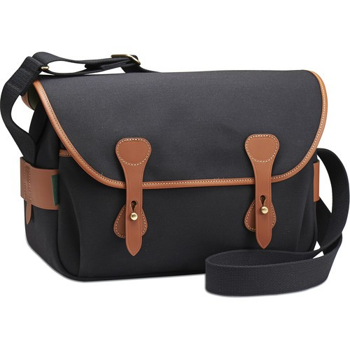 Billingham S4 Shoulder Bag (Black Canvas/Tan Leather)