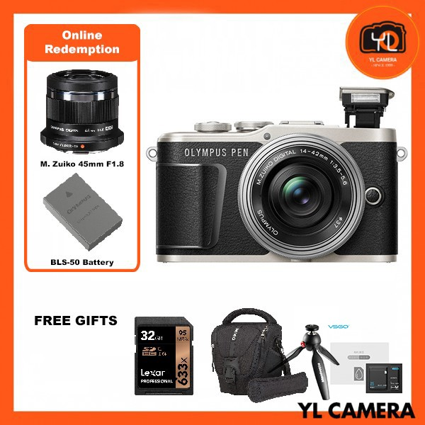 (Promotion) Olympus E-PL9 +  M.Zuiko 14-42mm EZ (Black) [Free Lexar 32GB 95MB SD Card + Benro ELZ10 Camera Bag] [Online Redemption 45mm F1.8 + Extra Battery]