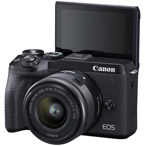 (Pre-Order) Canon EOS M6 Mark II + EF-M 15-45mm F3.5-6.3 IS STM - Black (Free 32GB SD Card + Camera Bag)