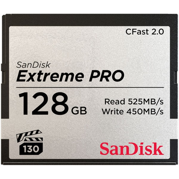 SanDisk 128GB Extreme PRO CFast Card (525MB/s)