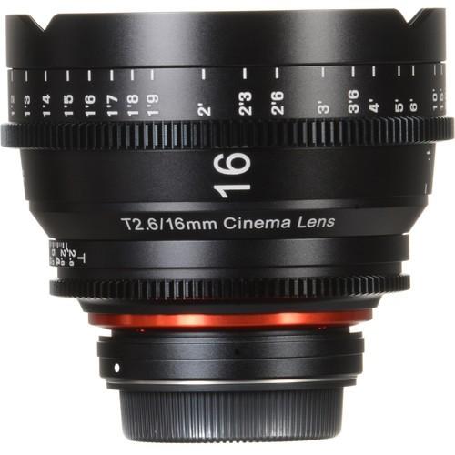 Samyang Xeen 16mm T2.6 Lens for Canon EF