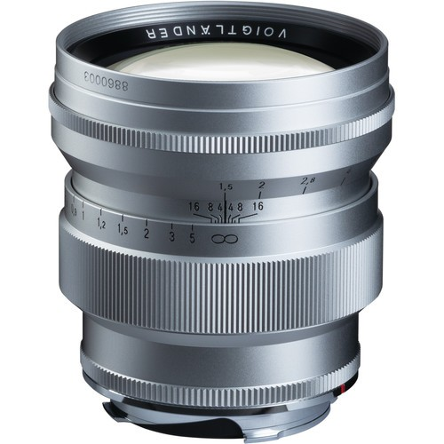 Voigtlander Nokton 75mm f/1.5 Aspherical Lens - Silver (For Leica M-Mount)