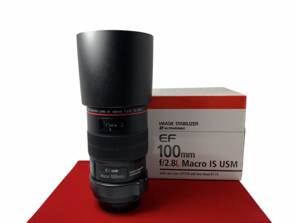 [USED-PJ33] Canon 100mm F2.8 EF L IS Macro, 95% Like New Condition (S/N:4227658)