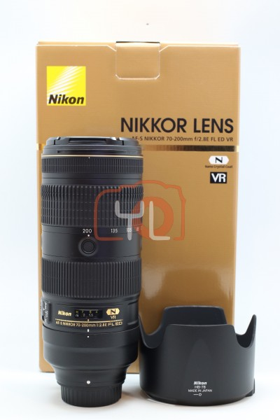 [USED-PUDU] Nikon 70-200mm F2.8E AFS FL ED VR 90%LIKE NEW CONDITION SN:212030