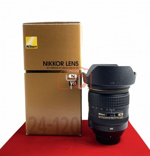 [USED-PJ33] Nikon 24-120MM F4 G AFS VR, 95% Like New Condition (S/N:62361694)