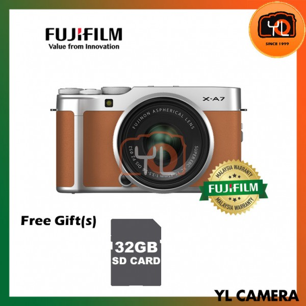 Fujifilm X-A7 + XC 15-45mm f/3.5-5.6 OIS PZ (Camel Brown) [Free 32GB SD Card]