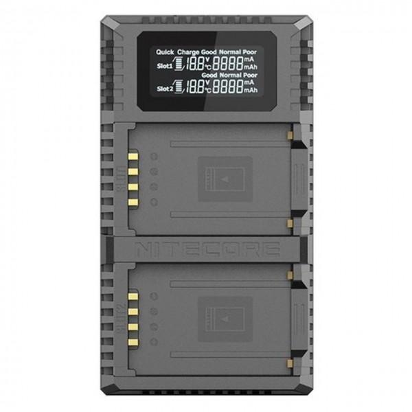 NITECORE FX2 PRO Dual Slot USB Digital Charger Fujifilm ForNP-T125