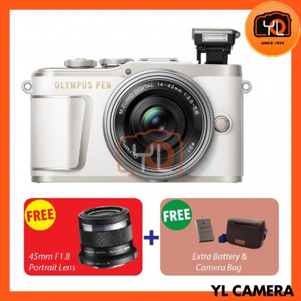 Olympus E-PL9 +  M.Zuiko 14-42mm EZ (White)  [Free Lexar 32GB 95MB SD Card] [Online Redemption 45mm F1.8 + Extra Battery + Olympus Camera Bag]