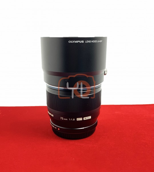 [USED-PJ33] Olympus 75mm F1.8 ED M.Zuiko (Black), 95% Like New Condition (S/N:344024632)