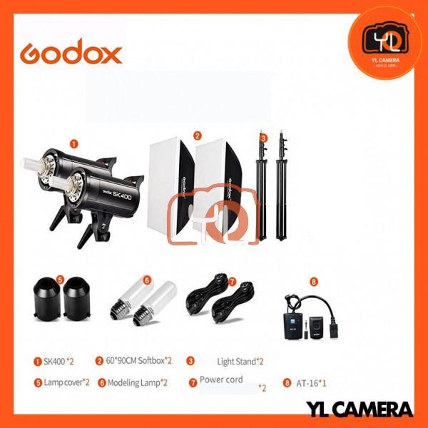 Godox SK400II Studio Strobe 2 Light Kit Set (2 Lights, 60x90cm Softbox, Trigger, Light Stand)