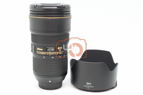 [USED-PUDU] Nikon 24-70MM F2.8E AFS VR ED Lens 95%LIKE NEW CONDITION SN:2101533
