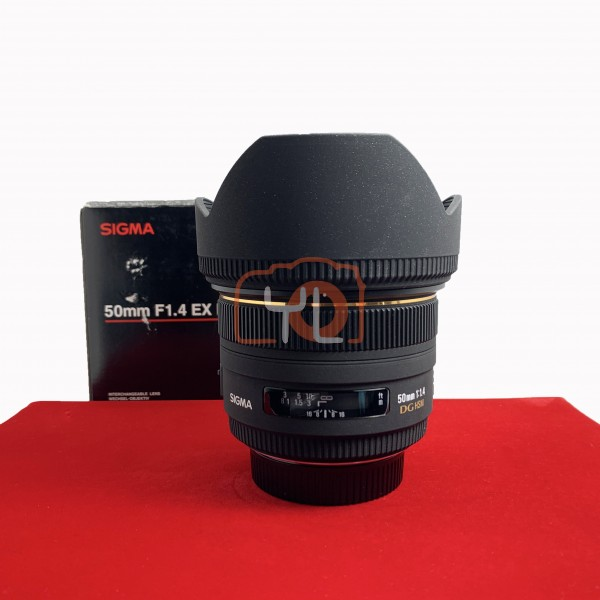 [USED-PJ33] Sigma 50mm F1.4 EX DG HSM (Nikon), 85% Like New Condition (S/N:10108881)