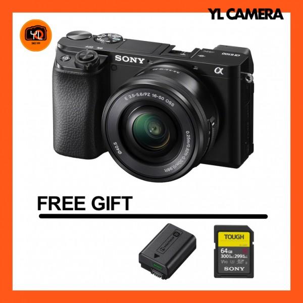 Sony a6100 + E 16-50mm F3.5-5.6 PZ OSS (Black) [Free 16GB SD Card + Tough 64GB SD Card + NP-FW50 Battery]