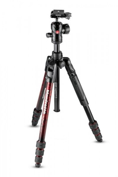 Manfrotto MKBFRTA4RD-BH Befree Advanced Travel Aluminum Tripod with 494 Ball Head (Twist Locks, Red)
