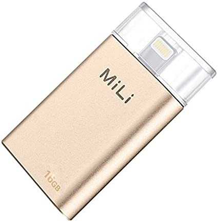 MiLi iData 16GB Flash Drive (GOLD) for Apple Lightning Devices