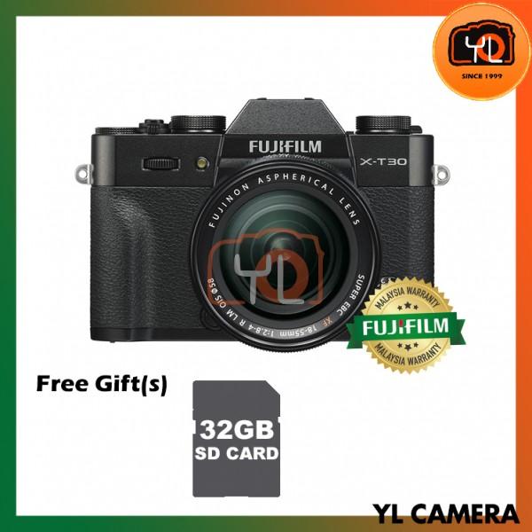 Fujifilm X-T30 (Black) + XF 18-55mm f/2.8-4R LM OIS [Free 32GB SD Card]