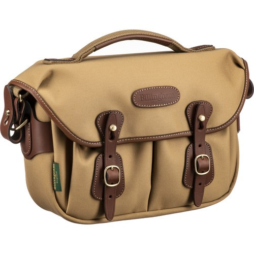 Billingham Hadley Small Pro Shoulder Bag (Khaki Canvas & Tan Leather)