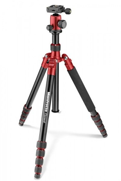 Manfrotto MKELEB5RD-BH Element Big Aluminum Traveler Tripod (Red)