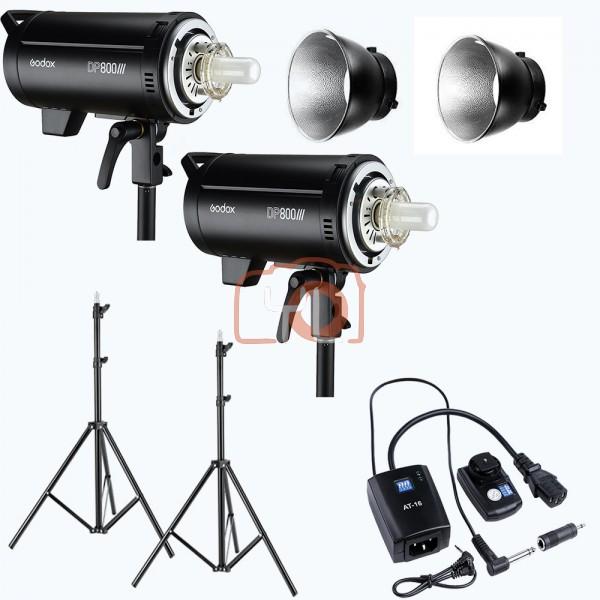 Godox DP800III Professional Studio Flash (AT16 Trigger , AD-R6 Reflector , Light stand ) 2 Light Kit