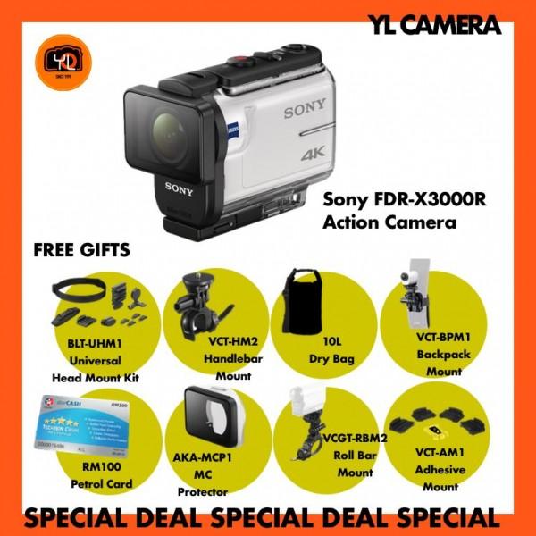 Sony FDR-X3000R 4K Action Camera (Free 32GB MicroSD Card)