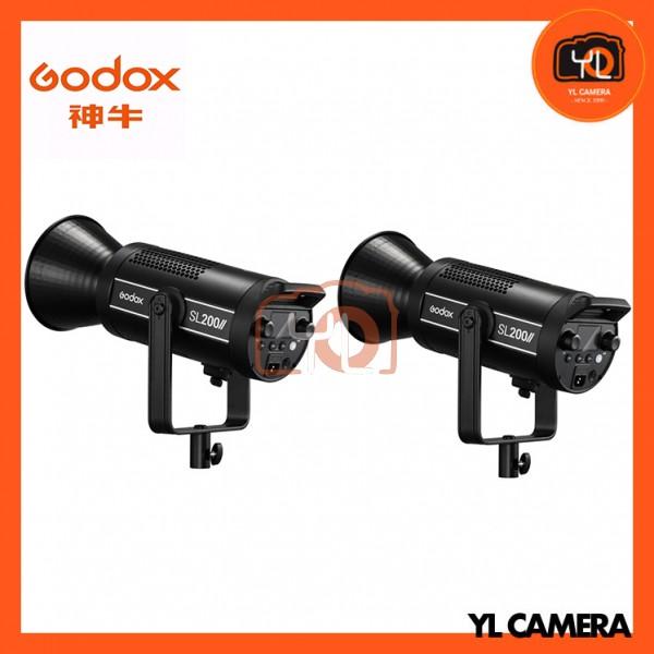 Godox SL200W II LED Video Light 2 Light Combo Set