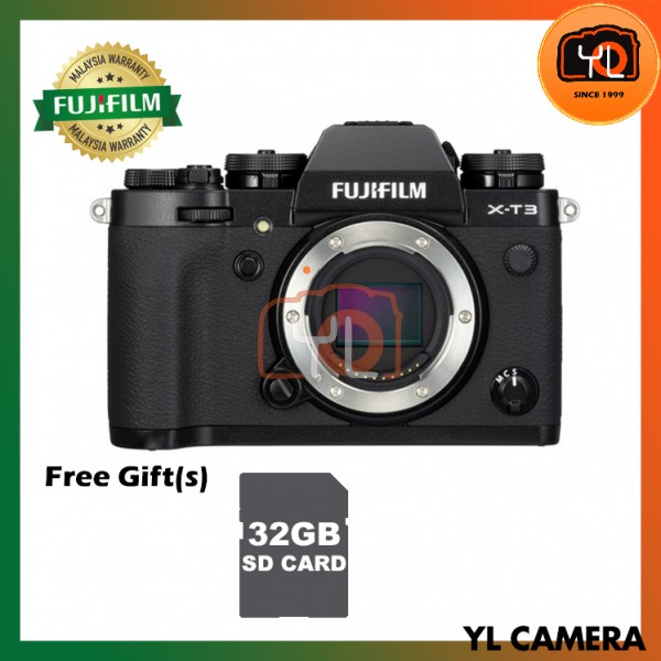 Fujifilm X-T3 (Black) [Free 32GB SD Card UHS-II]