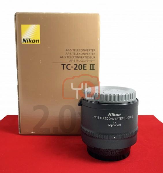 [USED-PJ33] Nikon TC-20E III 2X Teleconverter ,95% Like New Condition (S/N:250235)