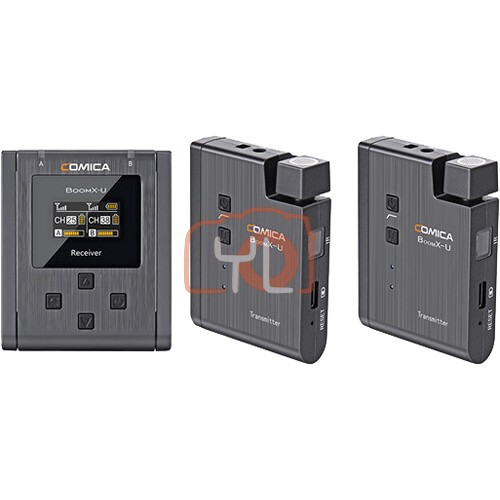 Comica Audio BoomX-U U2 Compact 2-Person Wireless Microphone System for Mirrorless/DSLR Cameras