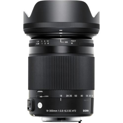 Sigma 18-300mm F3.5-6.3 DC Macro OS HSM Contemporary Lens (Nikon)