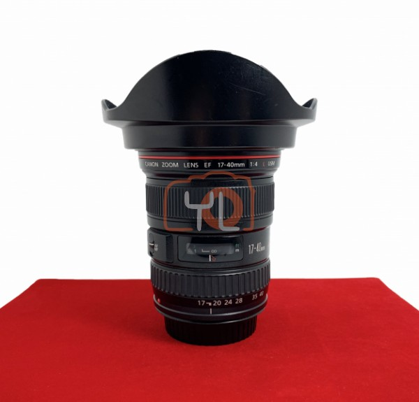 [USED-PJ33] Canon 17-40MM F4 L USM EF, 85% Like New Condition (S/N:160849)