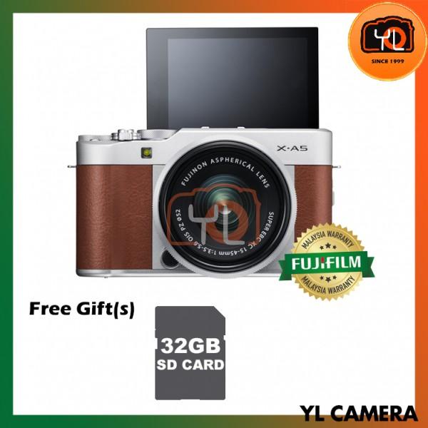 Fujifilm X-A5 + XC 15-45mm f/3.5-5.6 OIS PZ (Brown) [Free 32GB SD Card]