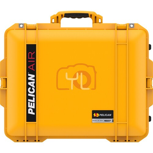 Pelican 1607 Air Wheeled Hard Case with Foam (Yellow)